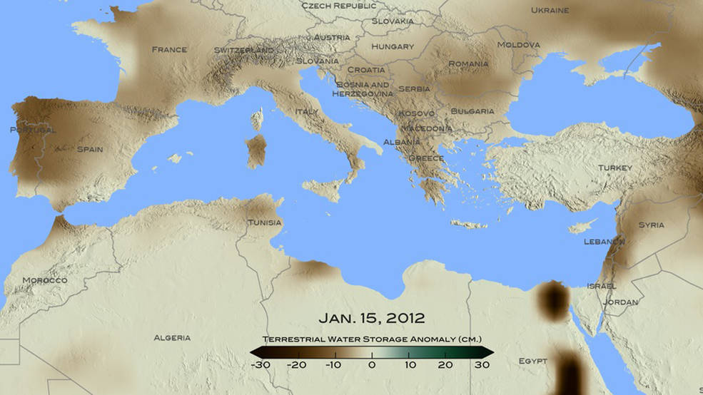 NASA Finds Drought in Eastern Mediterranean Worst of Past 900 Years   Source: Nasa.gov