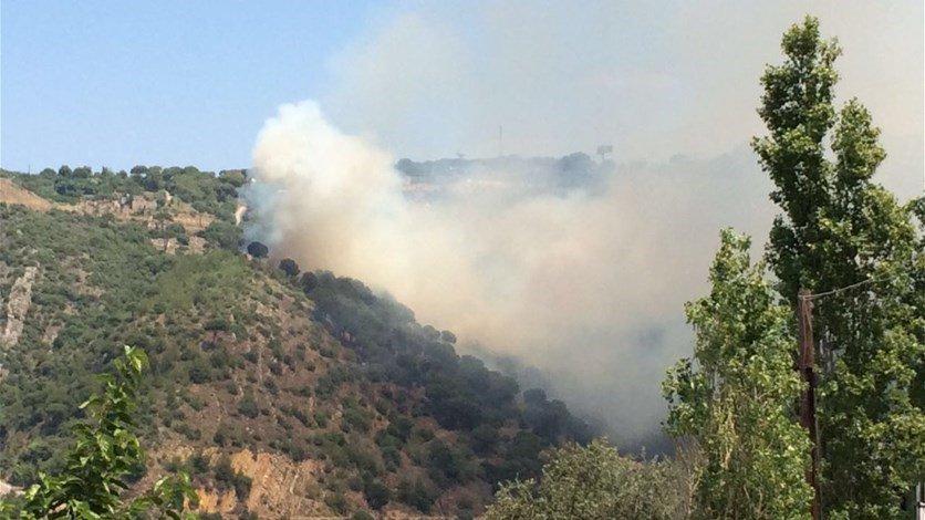 Fire re-erupts in Jietta, Mount Lebanon | Source: LBCI