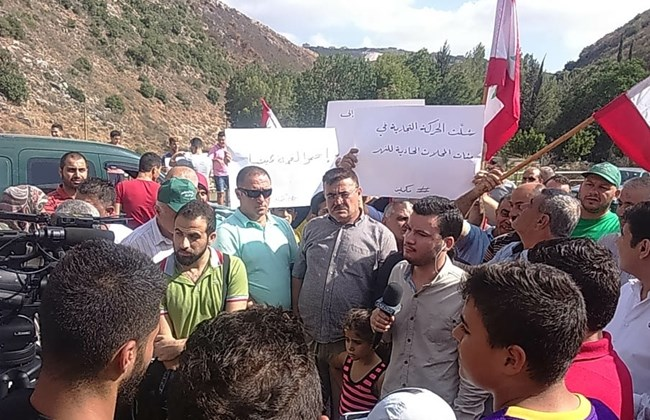 Demonstration is held on February 6 Bridge over Litani River pollution, Monday, July 18, 2016 | Source: TheDailyStar/NNA