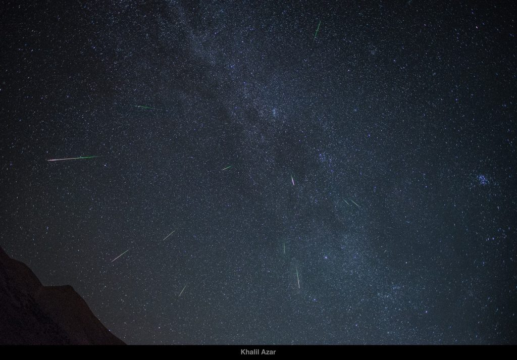 Shooting stars as documented in Qornet al-Sawda | Source: Beirut Versus
