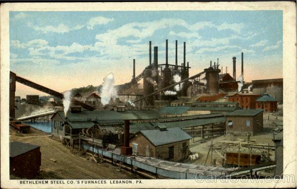 Bethlehem Steel Co.'S Furnaces Lebanon   Source: Harpel, Stationer