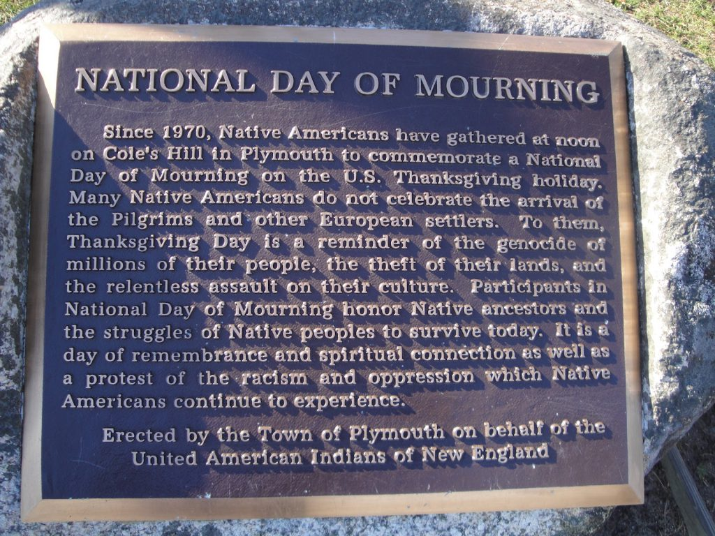 National Day of Mourning Reflects on Thanksgiving's Horrific, Bloody History   Source: Boston.com