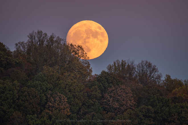 Moon appears larger when photographed next to the horizon due to what is known as the Moon Illusion. | Source: Space/SteveScanlon