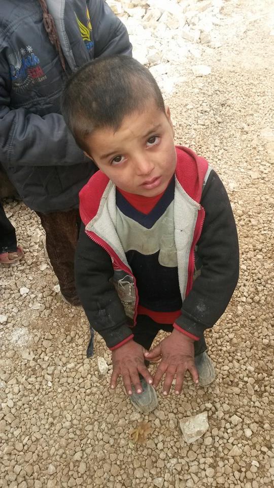 Syrian refugee boy in Arsal informal tented settlement   Source: Newsroom Nomad
