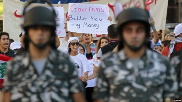 Youth anti-government protests, August 2015 | Source: REUTERS