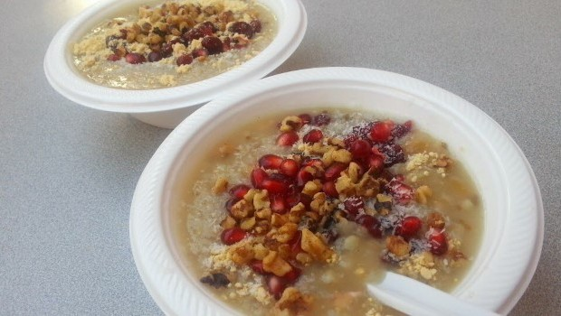 Boiled weat with buts and pomegranate seeds | Source: ChrisVlahonasios